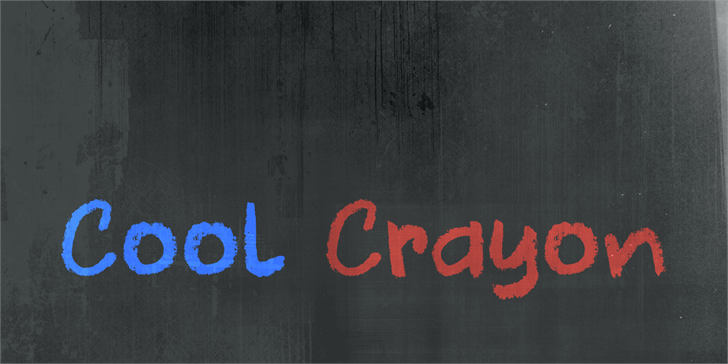 DK Cool Crayon font by David Kerkhoff