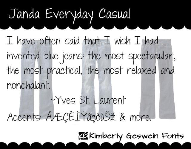 Janda Everyday Casual font by Kimberly Geswein