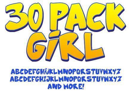 30 Pack Girl font by Press Gang Studios