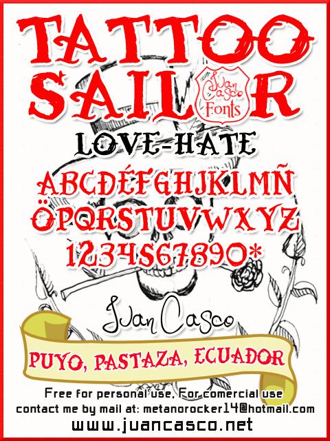 Tattoo Sailor font by Juan Casco