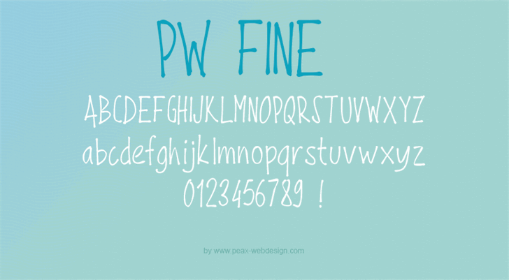 PWFine font by Peax Webdesign
