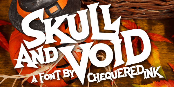 Skull And Void font by Chequered Ink