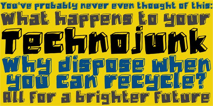 DK Technojunk font by David Kerkhoff