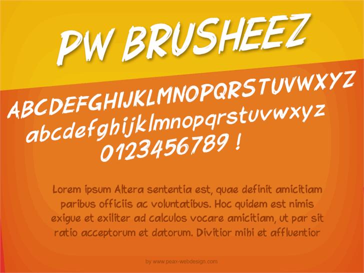 PWBrusheez font by Peax Webdesign