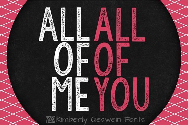 KG All of Me font by Kimberly Geswein