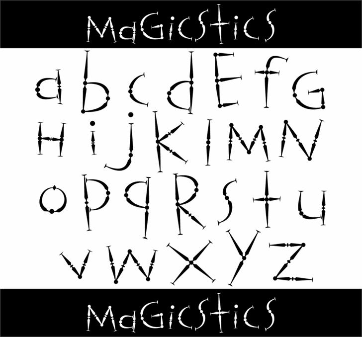 Magicstics font by 404maciej