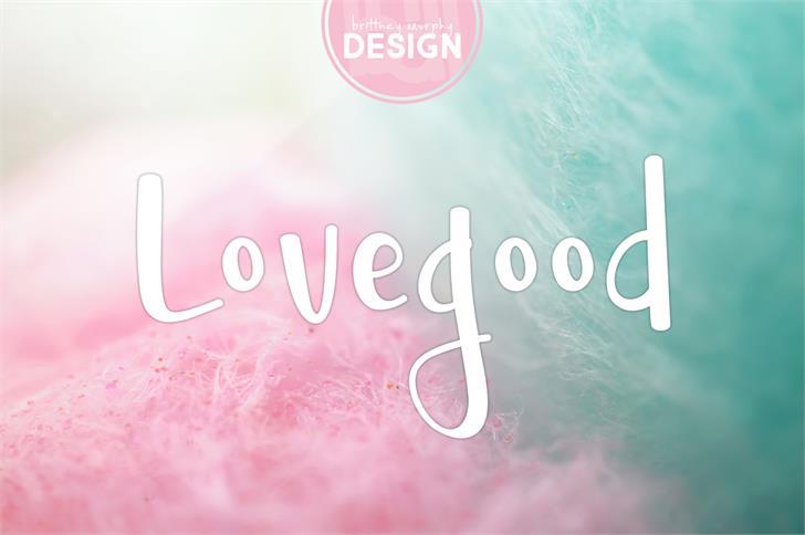 Lovegood font by Brittney Murphy Design