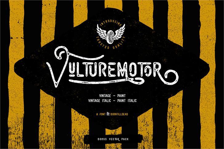 Vulturemotor Demo font by burntilldead