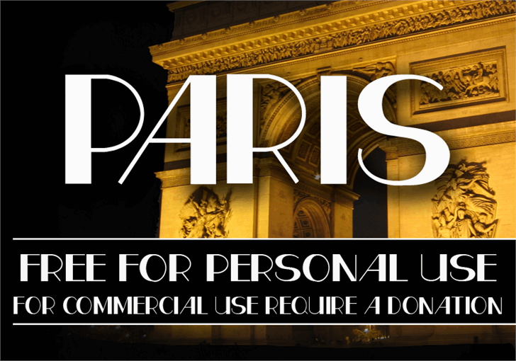 CF Paris font by CloutierFontes