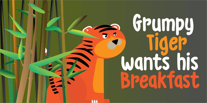 DK Grumpy Tiger font by David Kerkhoff