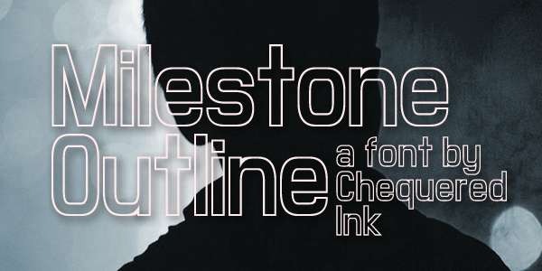 Milestone Outline font by Chequered Ink