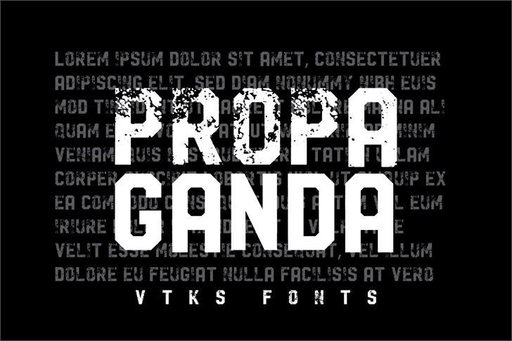 Vtks Propaganda font by VTKS DESIGN