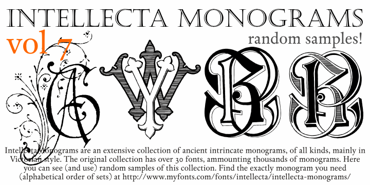 Intellecta Monograms Random Seven font by Intellecta Design
