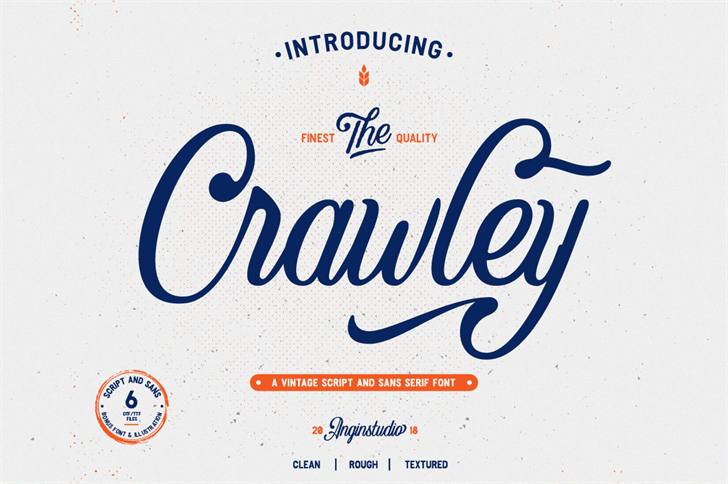 Crawley font by Angin.studio
