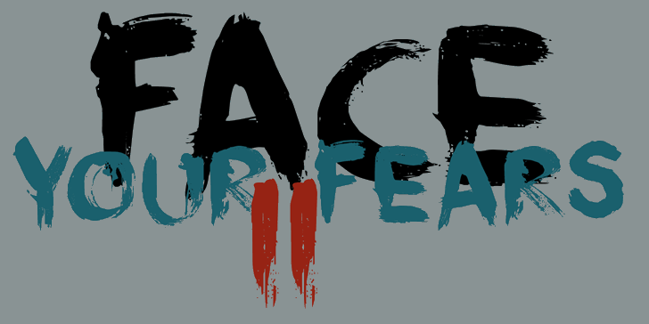 DK Face Your Fears II font by David Kerkhoff
