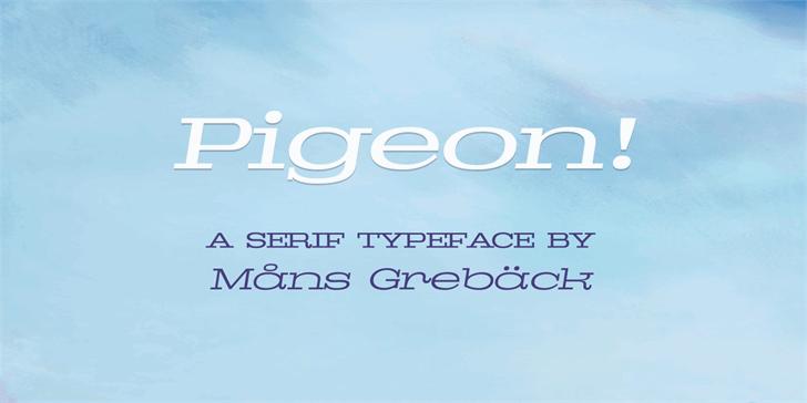 Pigeon PERSONAL font by Måns Grebäck