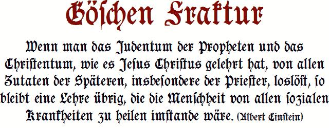Goeschen Fraktur font by Peter Wiegel