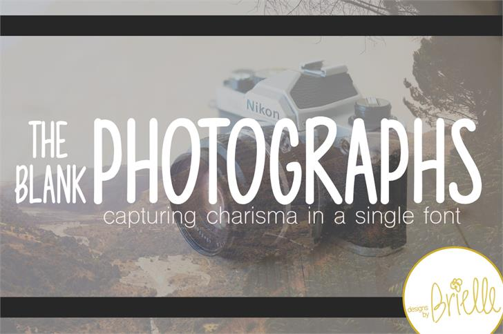 Photographs font by Designs by Brielle