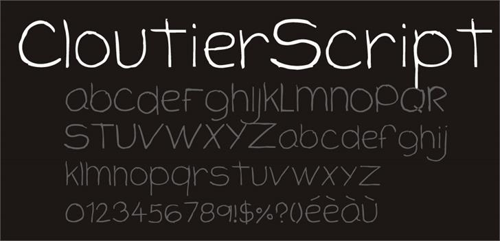 CloutierScript font by CloutierFontes