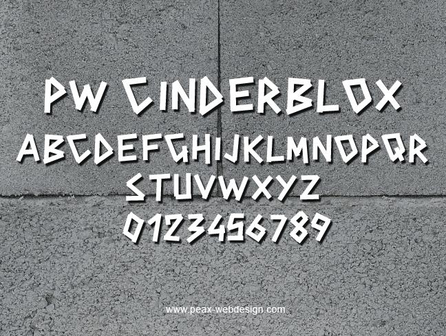 PWCINDERBLOX font by Peax Webdesign