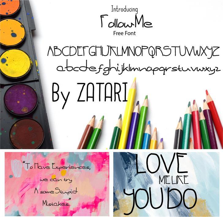 Follow me font by Zatari