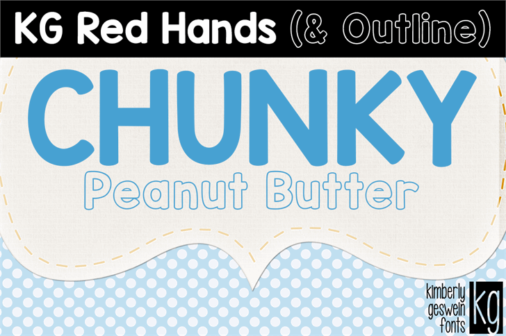KG Red Hands  font by Kimberly Geswein
