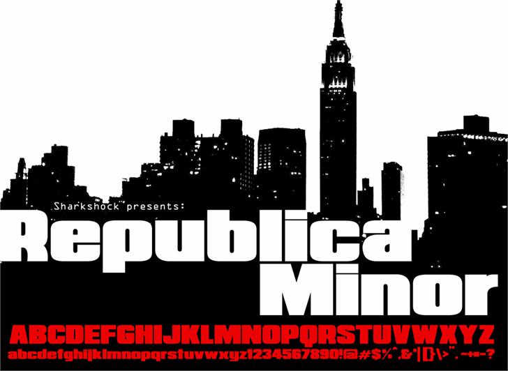 Republica Minor font by sharkshock