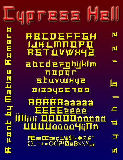 Cypress Hell font by Matias Romero
