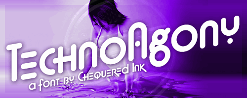 Techno Agony font by Chequered Ink