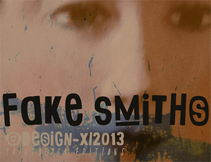 Fake Smiths font by paintblack éditions