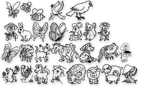Critters1DC font by Dingbat Crazy