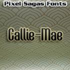 Callie-Mae font by Pixel Sagas