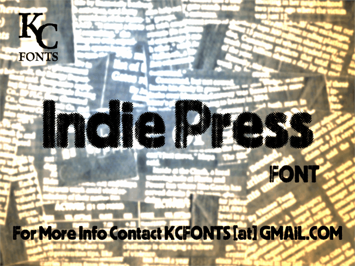 Indie Press font by KC Fonts