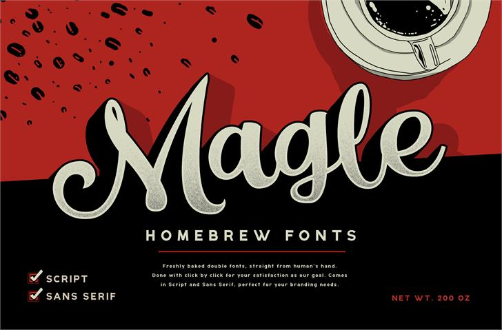 Magle Script DEMO font by Konstantine Studio