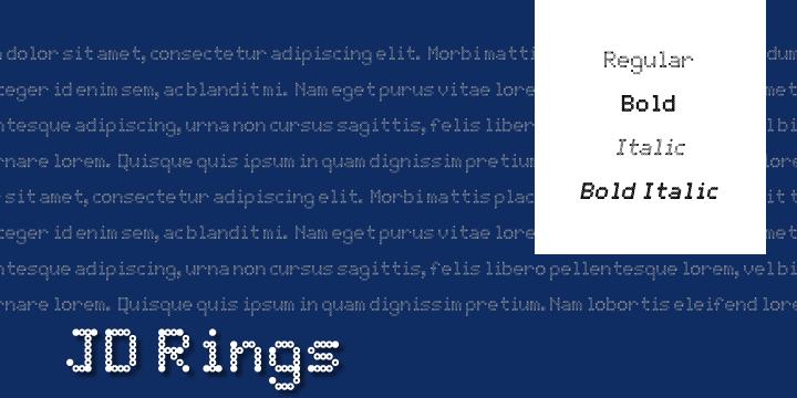JD Rings font by Jecko Development