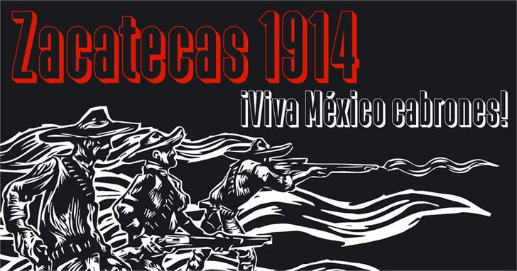 Zacatecas 1914 font by deFharo
