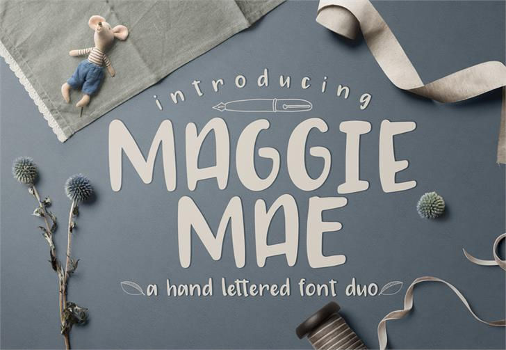 MAGGIE MAE font by GroovyJournal