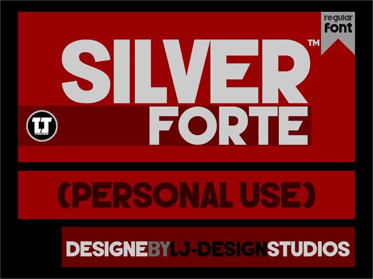 Silver Forte font by LJ Design Studios