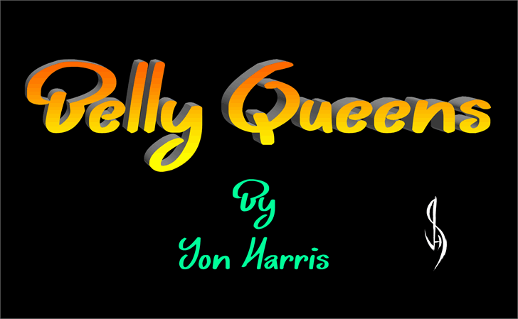 Belly Queens font by Jonathan S. Harris