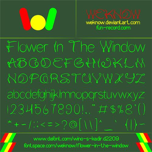 Flower In The Window font by weknow