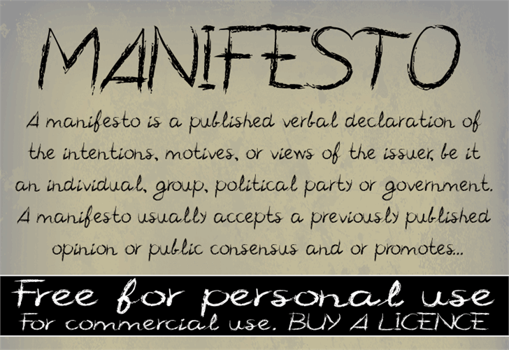 CF Manifesto font by CloutierFontes