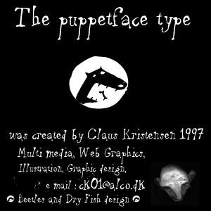 puppetFace font by Beetles and Dry Fish