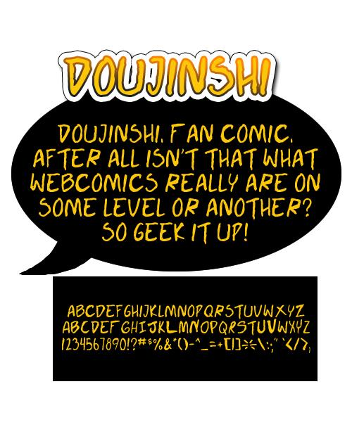 Doujinshi font by Press Gang Studios
