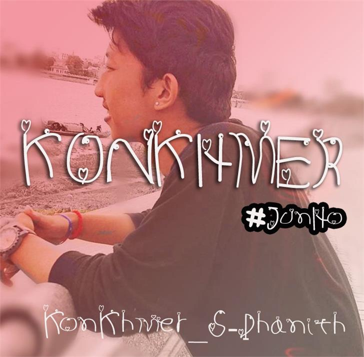KonKhmer_HEART PJ font by Suonmay Sophanith