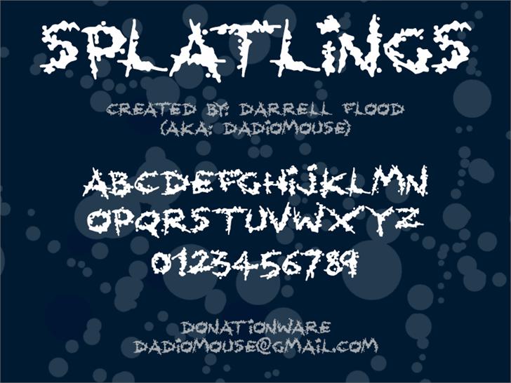 Splatlings font by Darrell Flood
