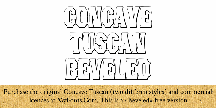 ConcaveTuscan Beveled font by Intellecta Design