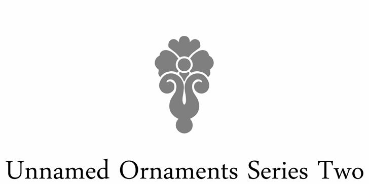 Unnamed Ornaments Series Two font by Intellecta Design