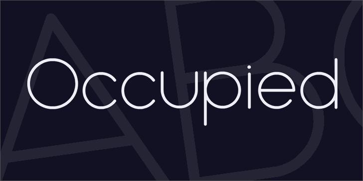 Occupied font by Vladimir Nikolic