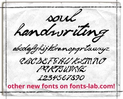 soul handwriting_free-version font by FontsCafe