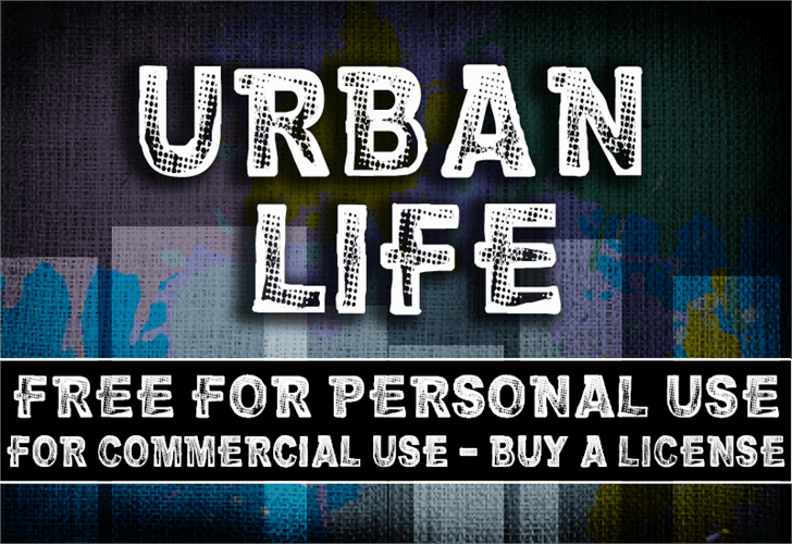 CF Urban Life font by CloutierFontes